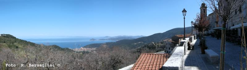 Vista da Marciana all'Isola d'Elba.